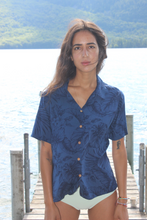 Load image into Gallery viewer, Hawaiian Ocean Blue Paradise Shirt