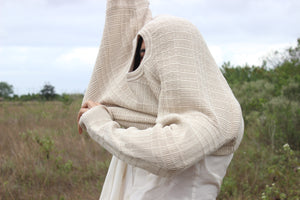 Cream Braided Claiborne Sweater