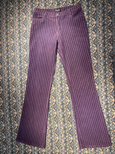 Load image into Gallery viewer, Dolce & Gabbana Purple Striped Corduroy Flare Pant Size 28
