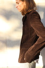 Load image into Gallery viewer, Chocolate Corduroy Bell Sleeve Blazer