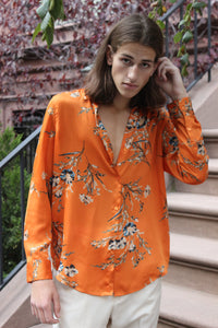 Floral and Flowy Orange Equipment Shirt