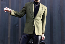 Load image into Gallery viewer, Moss Green Carpenter Pocket Blazer
