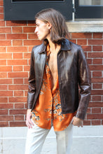 Load image into Gallery viewer, Chocolate Leather Crop Jacket