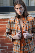 Load image into Gallery viewer, Italian Tangerine Plaid Blazer