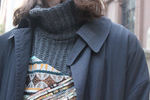 Load image into Gallery viewer, Charcoal Knit Party Turtleneck