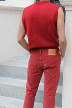 Load image into Gallery viewer, Fire Engine Red Vintage Gant Vest