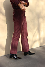 Load image into Gallery viewer, Burgundy Corduroy Boot Cut Pant