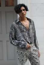 Load image into Gallery viewer, Gray Snakeskin Flowy Shirt