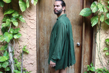 Load image into Gallery viewer, Hunter Pine Pleated Indian Cotton Shirt