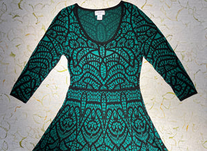 Carmen Marc Valvo Green Jersey Dress Size M