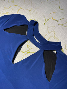 Norma Kamali Royal Blue Disco Dress Size XS