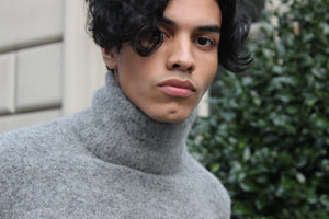 Gray Alpaca Turtleneck