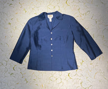 Load image into Gallery viewer, Royal Blue Silk Mini Jacket Size M