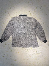 Load image into Gallery viewer, Pierre Cardin Black and White SIlk Blouse Size M