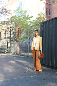 Burnt Orange '70s Corduroy Bell Pants