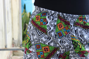 '90s Adidas Originals Geometric Print Shorts
