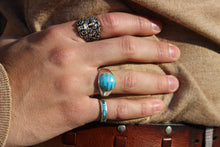 Load image into Gallery viewer, Turquoise Sterling Round Ring