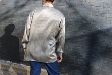 Load image into Gallery viewer, Liquid Silver Silk Striped Shirt