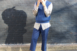 Azure Blue Cable Knit Vest