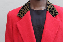 Load image into Gallery viewer, Christian Dior Leopard Red Orange Suit