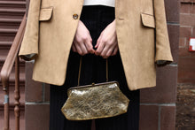 Load image into Gallery viewer, Clear PVC Gold Clutch