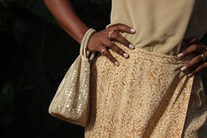 Gold Sequin Mesh Bag