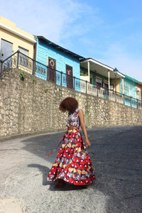 African Print Triangle A Skirt