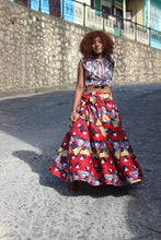 Load image into Gallery viewer, African Print Triangle A Skirt