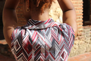Red, White and Blue Diamond Top