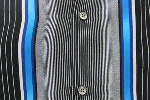 Vibrant Cobalt Black and White Shirt
