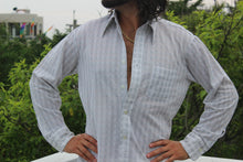 Load image into Gallery viewer, 1970's Sheer Plaid Vintage Shirt