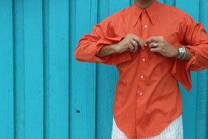 Vintage Coral French Cuff Shirt