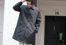 Load image into Gallery viewer, Black '90s DKNY Nylon Raincoat
