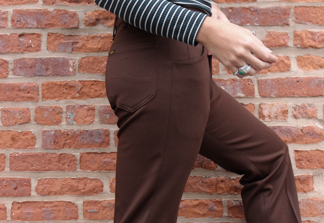 70s Chocolate Lee Boot Cut Pant