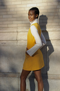 Mellow Yellow Mini Double Pocket Dress