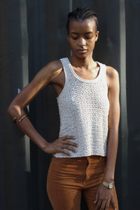Bone Knit Scoop Neck Tank Top