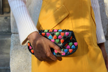 Load image into Gallery viewer, Vintage Betsey Johnson Leather Heart Clutch