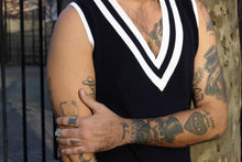 Load image into Gallery viewer, Deepest V Navy Nautical Vest