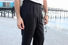 Load image into Gallery viewer, Dark Charcoal French Striped Trouser