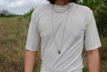 "Load image into Gallery viewer, 36"" Sterling Rope Chain with Sunstone Charm"