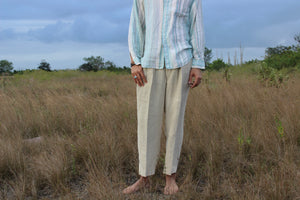 60 Shades of Blue Italian Linen Shirt