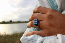 Load image into Gallery viewer, Blue Green Azurite Malachite Sterling Ring