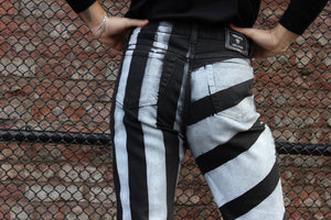 Upcycled Striped Versace Jeans