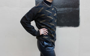 Zig Zag Black and Gold Sweater