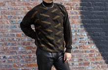Load image into Gallery viewer, Zig Zag Black and Gold Sweater