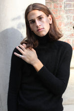 Load image into Gallery viewer, Jet Black Cashmere Turtleneck