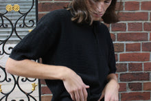 Load image into Gallery viewer, Vintage Black Ribbed Polo