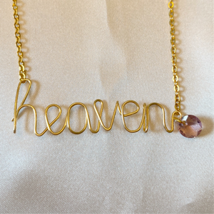 Custom Gold Name Necklace with Birthstone