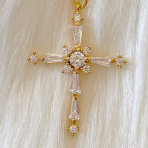 Encrusted Cross Necklace