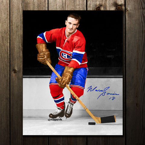 Richard Sevigny Montreal Canadiens ACTION Autographed 8x10